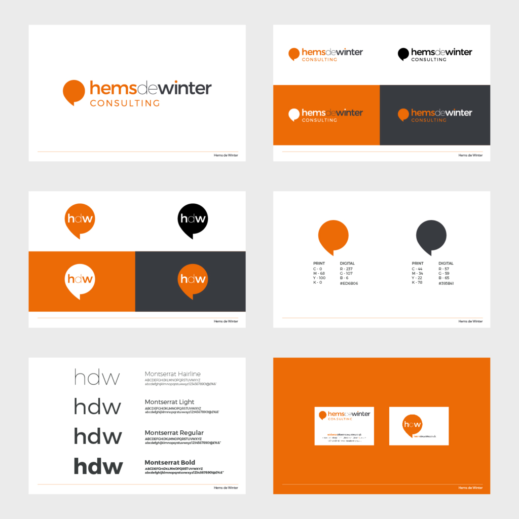 Hems de Winter, Chester, brand guidelines