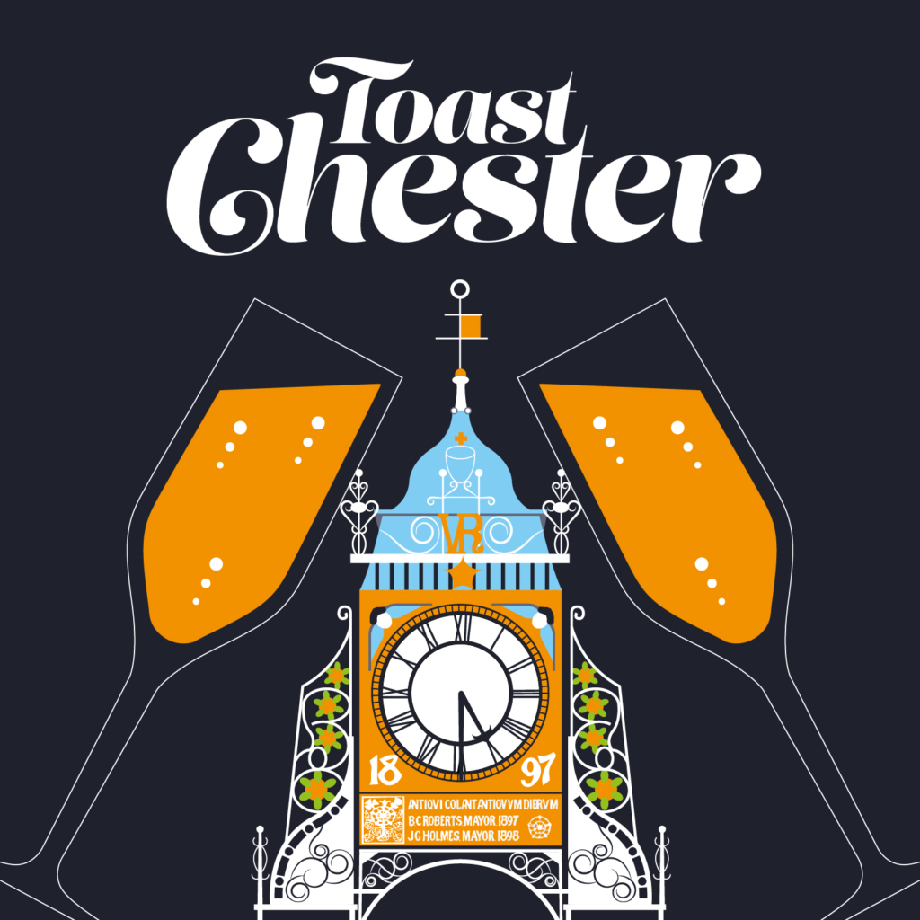 CH1 Chester Bid Awards Night design, Toast Chester
